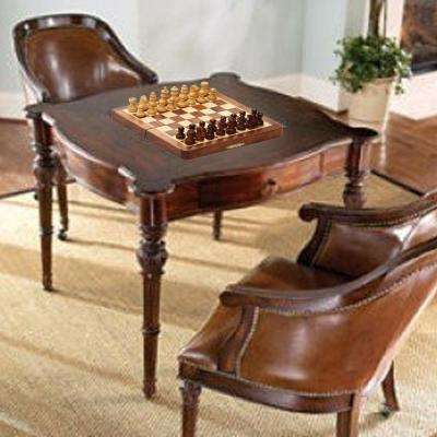 Brown and Beige Magnetic Folding Portable Handmade Chess Game Board In Fine Rosewood