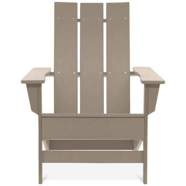 Aria Weathered Wood Recycled Plastic Modern Adirondack Chair