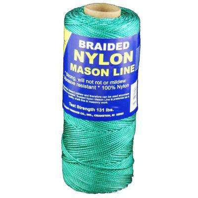 #1 x 1000 ft. Braided Nylon Mason Line in Green