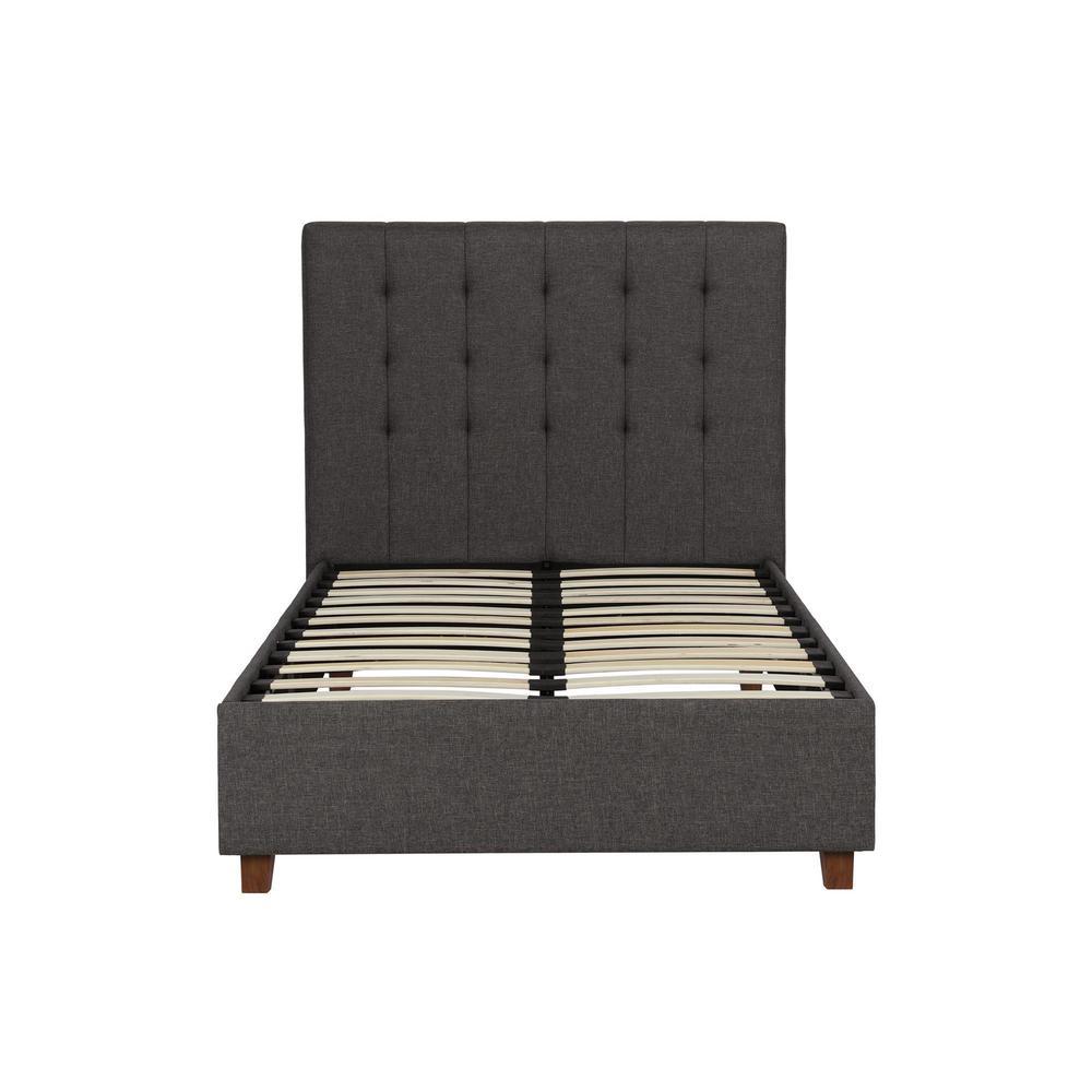 Eva Grey Linen Twin Upholstered Bed
