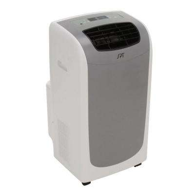 13,000 BTU Portable Air Conditioner, Dual-Hose System in Grey with Dehumidifier