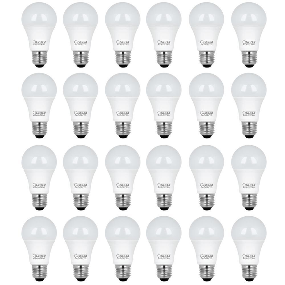 Feit Electric 75W Equivalent Soft White (2700K) A19 LED Light Bulb (24-Pack)