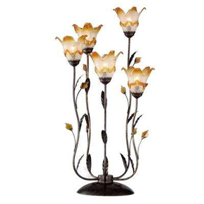 33 in Bronze Windance Floral Table Lamp