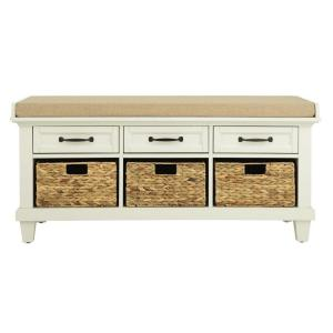 Home Decorators Collection Martin Ivory 46 5 Shoe Storage Bench 9613800440 The Depot