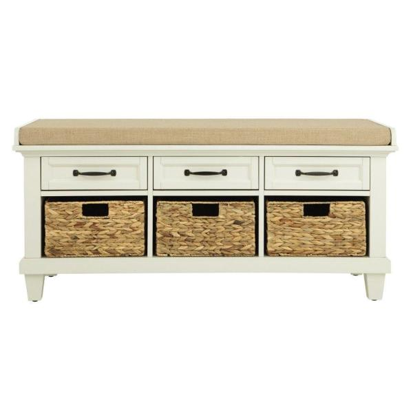 Home Decorators Collection Martin Ivory 46.5'' Shoe Storage Bench 9613800440