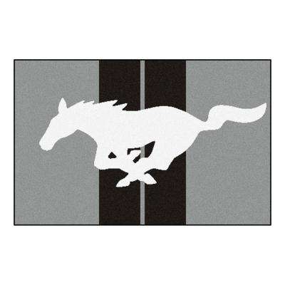 Ford - Mustang Horse Grey 2 ft. x 3 ft. Indoor Area Rug
