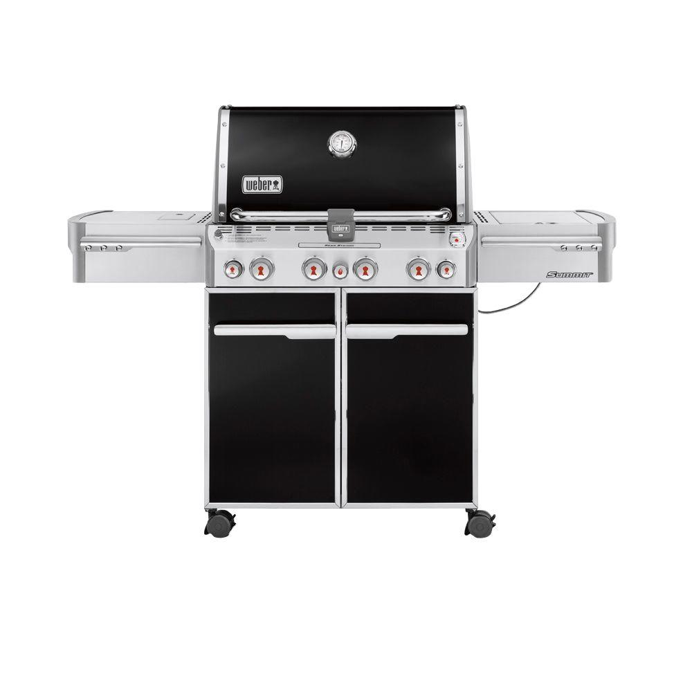 Weber Summit E-470 4-Burner Propane Gas Grill in Black with Built-In  Thermometer and Rotisserie