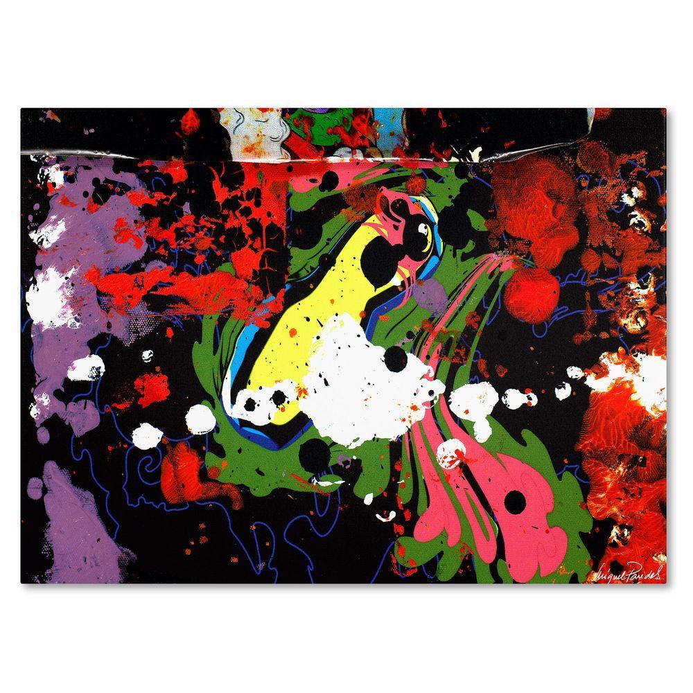 14 in. x 19 in. Fisheye Canvas Art