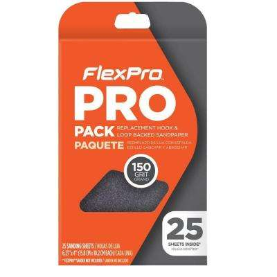 150 Grit Pro Pack Replacement Sandpaper (25-Pack)