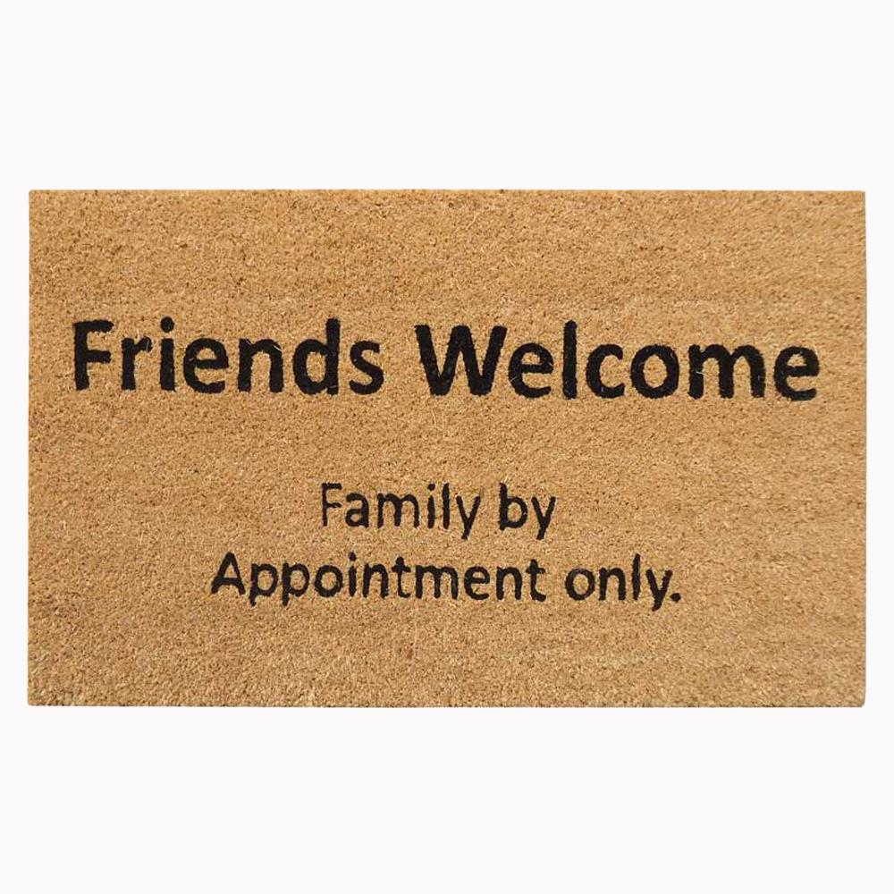 Nedia Home 18 in. x 30 in. Friends and Family Super Scraper Door Mat