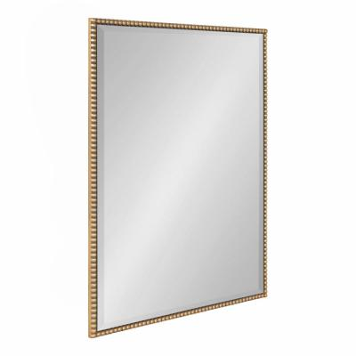 Medium Rectangle Gold Beveled Glass Modern Mirror (24 in. H x 18 in. W)