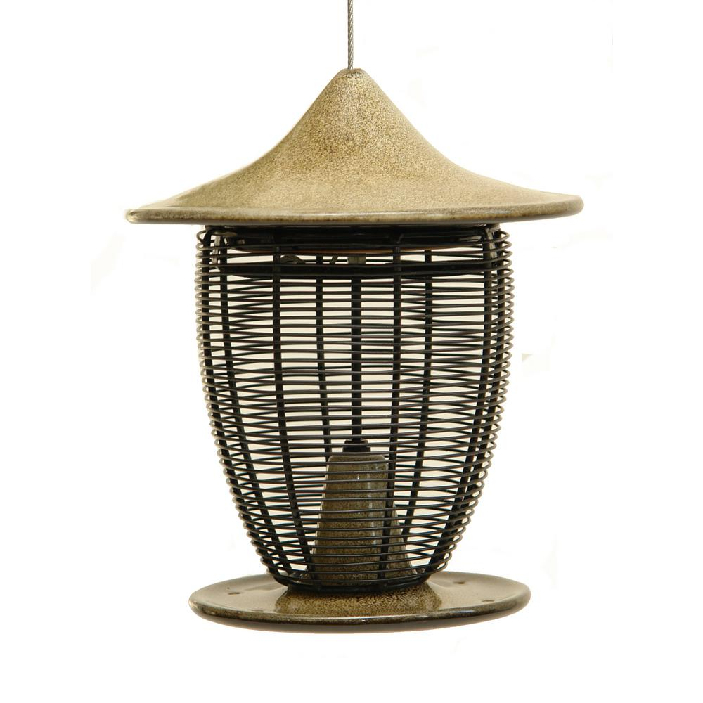 byer of maine 10 in sandy granite ceramic feeder with cage sf41102 the home depot. Black Bedroom Furniture Sets. Home Design Ideas