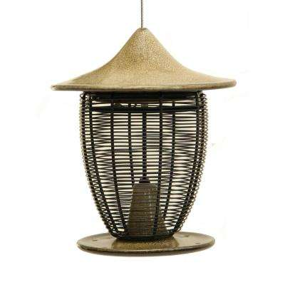 10 in. Sandy Granite Ceramic Feeder With Cage