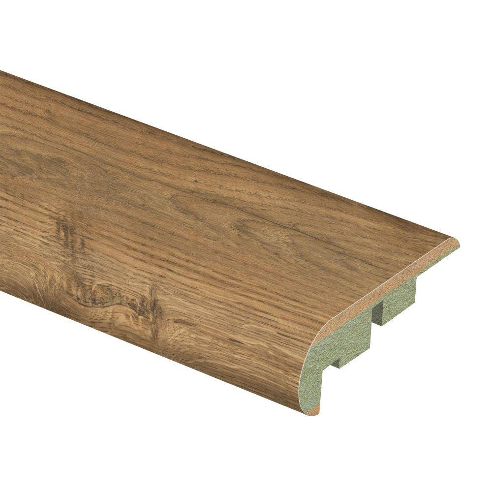 Zamma Hand Scraped Santa Clara Oak 3/4 in. Thick x 2-1/8 in. Wide x 94 in. Length Laminate Stair Nose Molding-DISCONTINUED