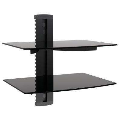 Dual Media Component Wall Mount 17.6 lb. Load Capacity (per Shelf)