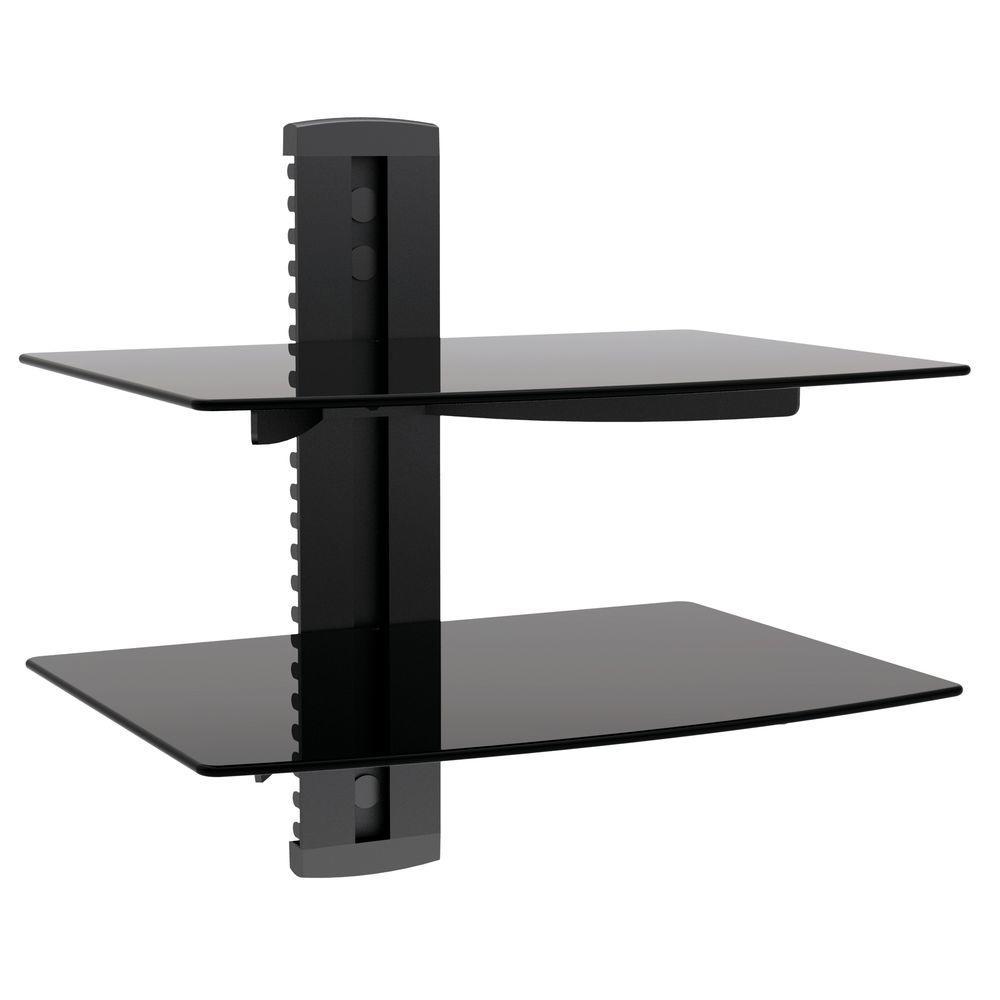 Proht Dual Media Component Wall Mount 17 6 Lb Load Capacity Per Shelf