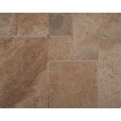 Walnut Onyx Pattern Honed-Unfilled-Chipped Travertine Floor and Wall Tile (5 kits / 80 sq. ft. / pallet)