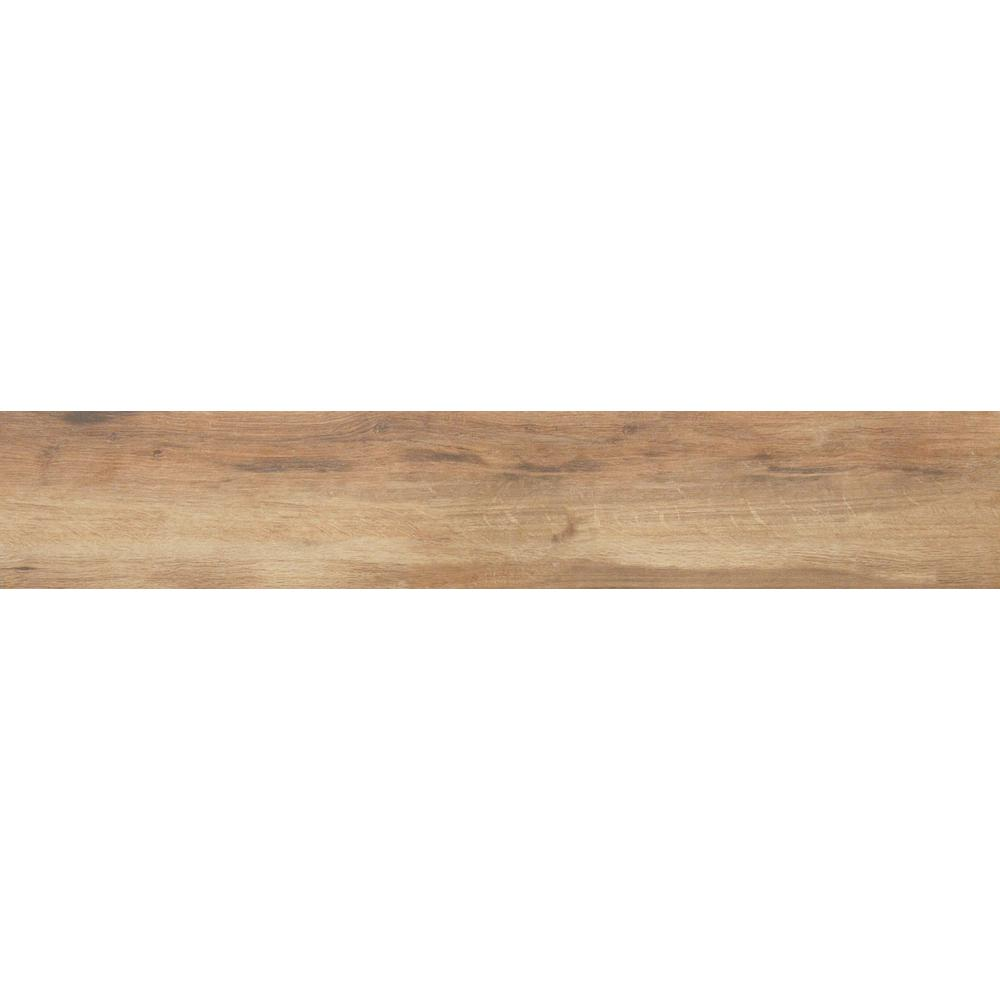 Botanica Cashew 6 in. x 24 in. Glazed Porcelain Floor and