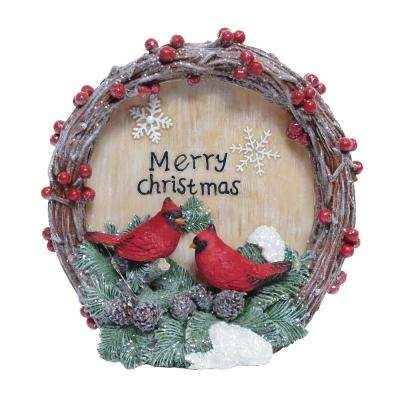 9 in. Christmas Greeting Wreath