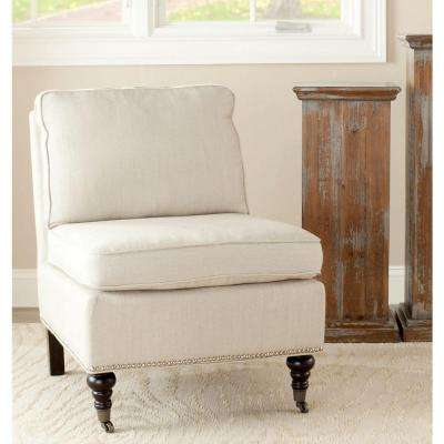 Slipper Chair White Accent Chairs Chairs The Home Depot