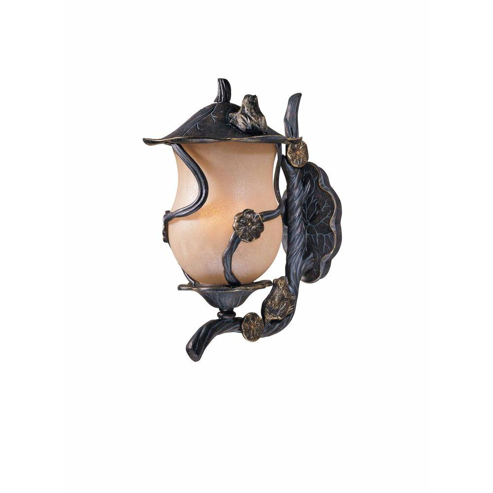 Filament Design Value 3-Light Outdoor Weathered Bronze Frog Wall Sconce