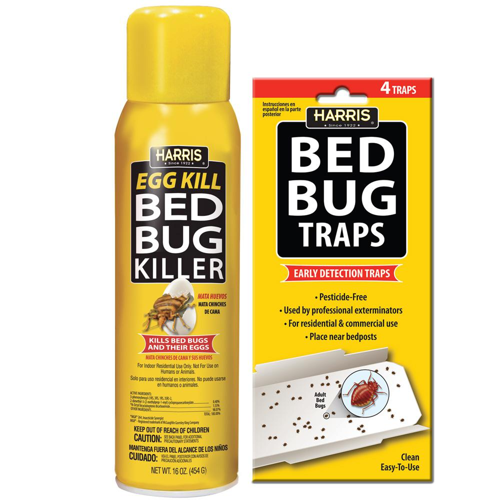 Harris 16 Oz Egg Kill And Bed Bug Trap Value Pack
