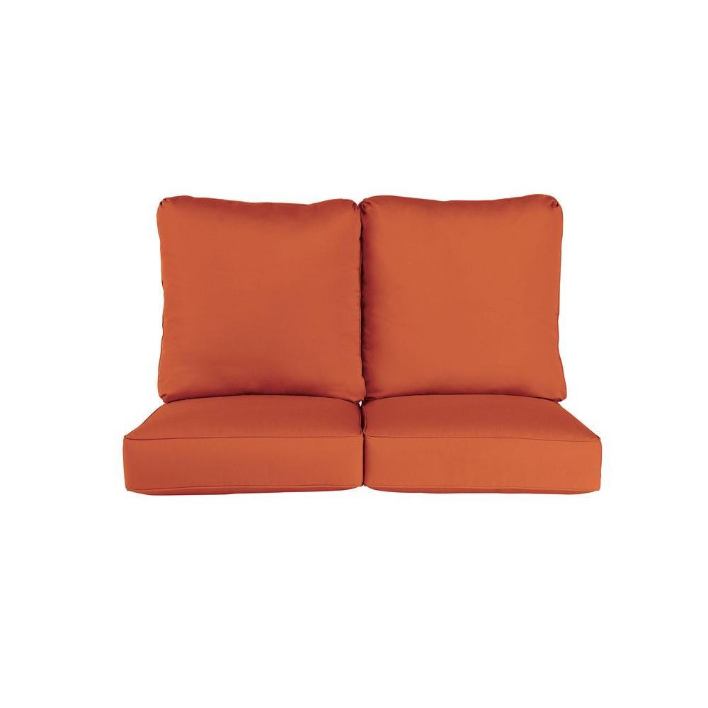 Brown Jordan Vineyard Replacement Outdoor Loveseat Cushion in Cinnabar