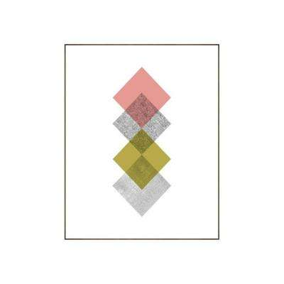 "39.25 in. x 31.25 in. ""Concentric IV"" by Bobby Berk Printed Framed Wall Art"