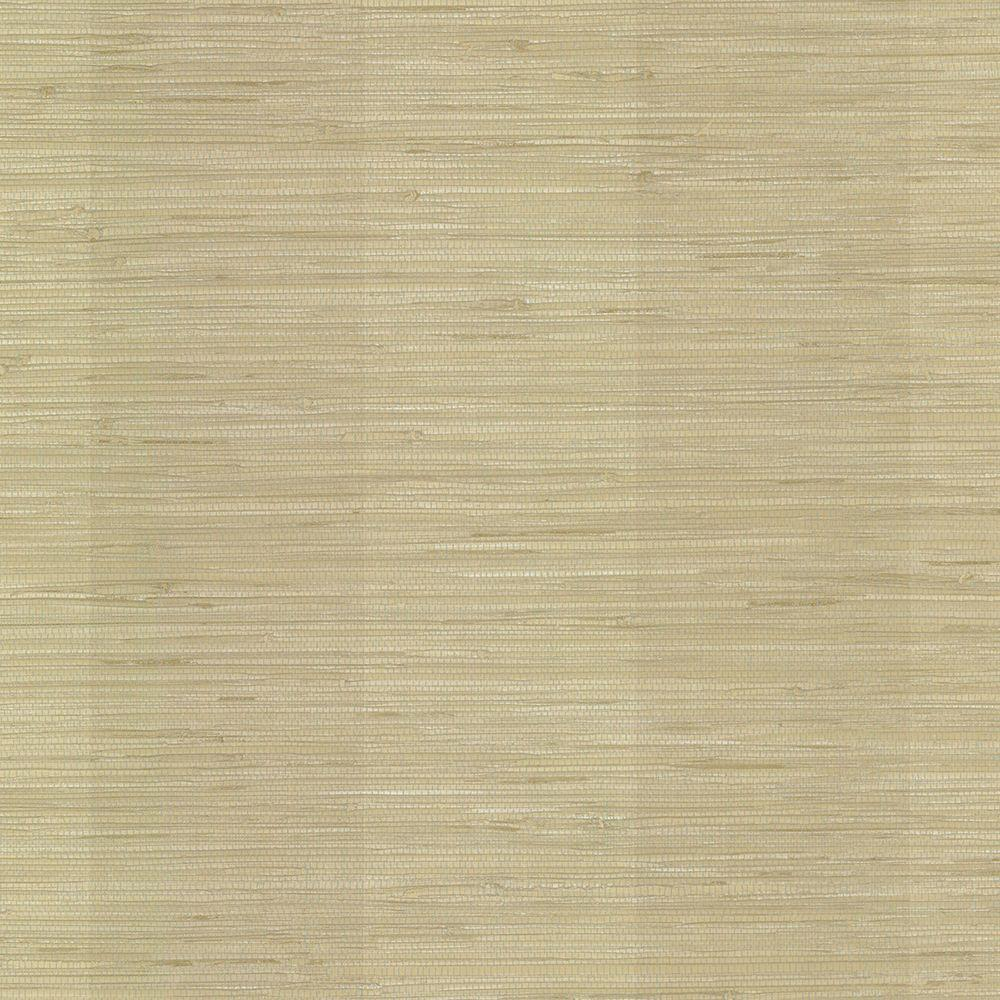 York Wallcoverings Taupe Grasscloth Strippable Non Woven: York Wallcoverings Impression Grasscloth Wallpaper-DE8996