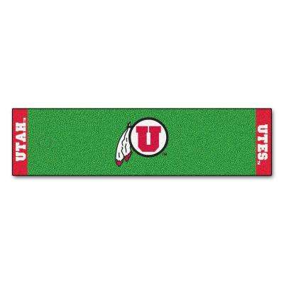 NCAA University of Utah 1 ft. 6 in. x 6 ft. Indoor 1-Hole Golf Practice Putting Green