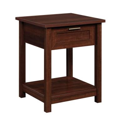 Brookland 23.898 in. Select Cherry Engineered Wood 1-Drawer End Table