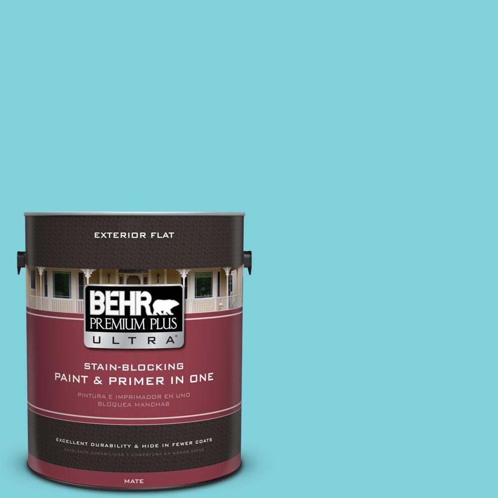 1-gal. #P470-3 Sea of Tranquility Flat Exterior Paint