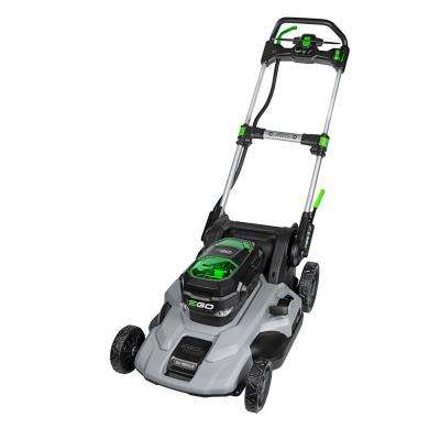 21 in. 56-Volt Lith-ion Electric Cordless Poly Deck Dual-Port Self Propelled Walk Behind Mower 2X 5.0Ah Batteries
