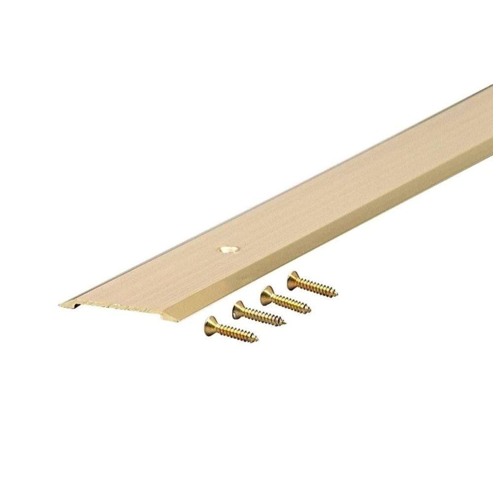 1-3/4 in. x 36 in. Aluminum Deluxe Flat Top Brite Gold