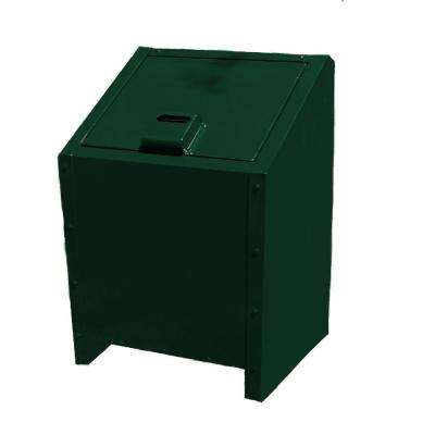 34 Gal. Metal Animal Proof Trash Can in Green