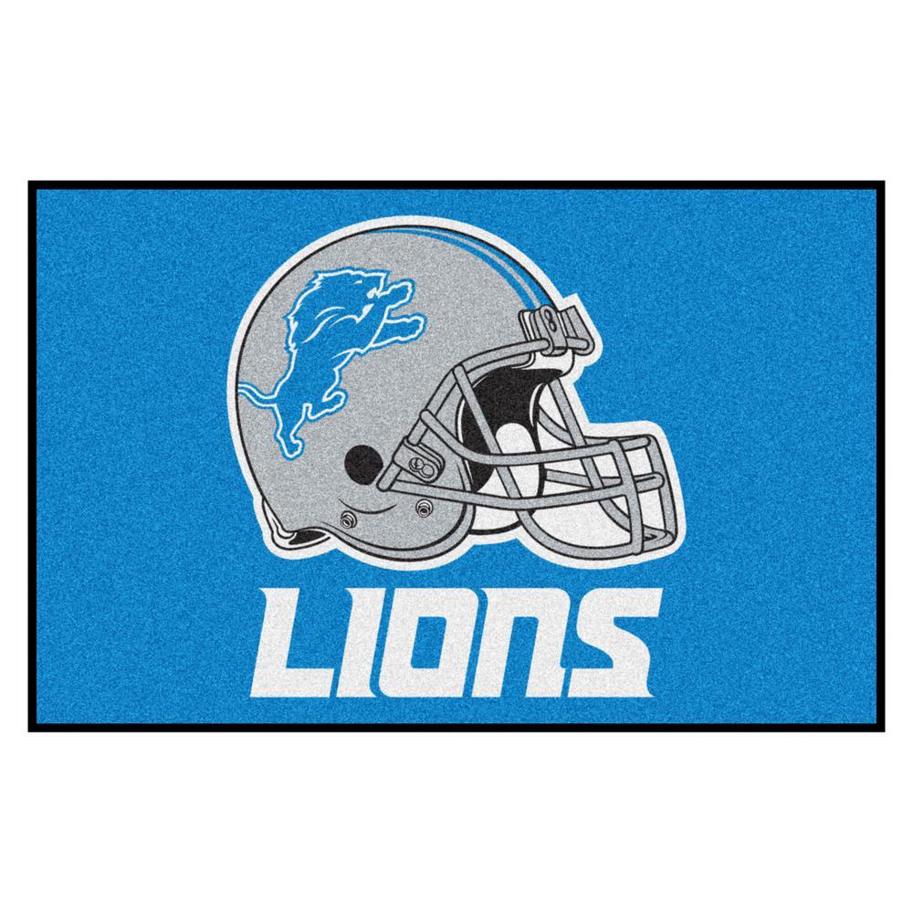 NFL Detroit Lions 19 in. x 30 in. Starter Mat Indoor Accent Rug