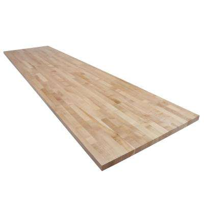 10 ft. L x 2 ft. 6 in. D x 1.5 in. T Butcher Block Countertop in Finished Maple