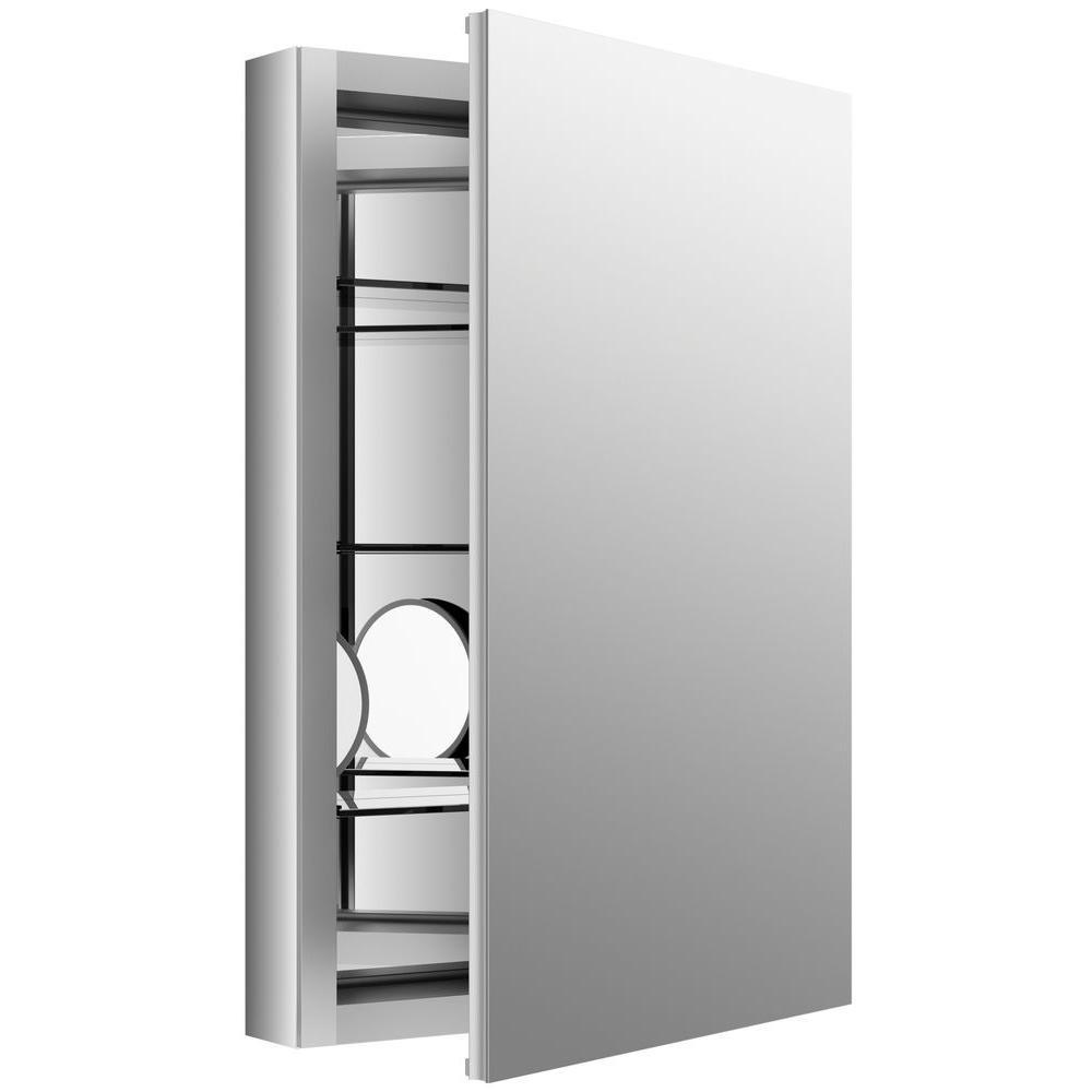 Kohler Verdera 20 In W X 30 H Recessed Medicine Cabinet Anodized Aluminum K 99003 Na The Home Depot