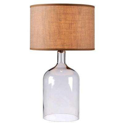 Capri 30 in. Clear Glass Table Lamp