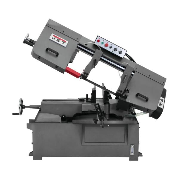 Jet 10 In X 14 In Metalworking Horizontal Mitering Bandsaw 230 Volt 1ph 414479 The Home Depot