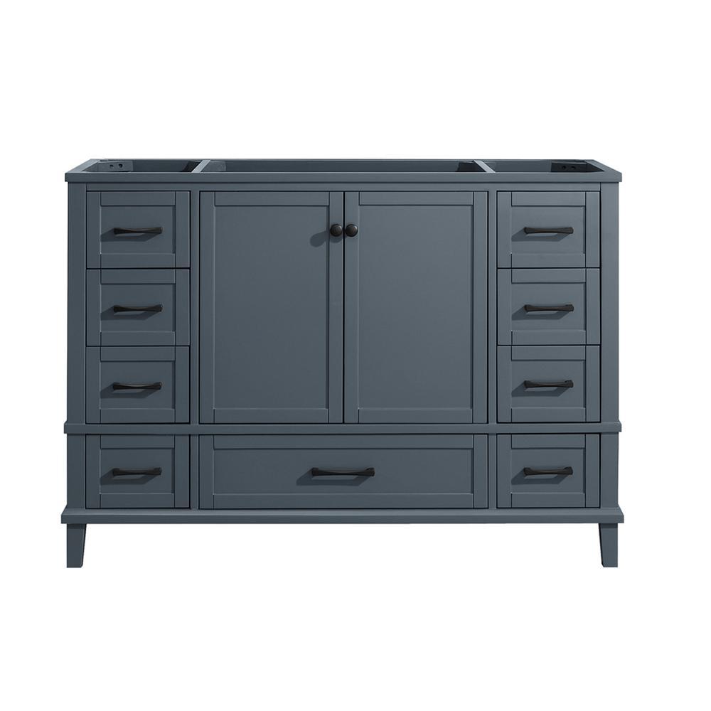 Merryfield 48 in. W x 21-1/2 in. D Bathroom Vanity Cabinet Only in Dark Blue-Gray