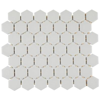 Restore Matte Stone Gray Hexagon 10 in. x 12 in. x 6.35 mm Glazed Ceramic Mosaic Tile (0.81 sq. ft./piece)