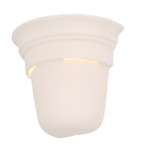 1-Light Ceramic White Interior Wall Sconce