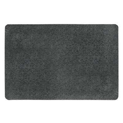 Pebble Trax Grande Black 36 in. x 60 in. Rubber Top/PVC Sponge Laminate 1 in. Thick Anti-Fatigue Mat