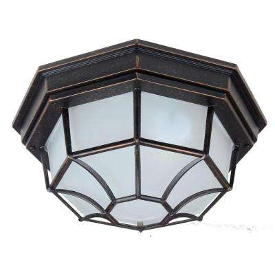 Megan 2-Light Oil Rubbed Bronze Outdoor Flushmount