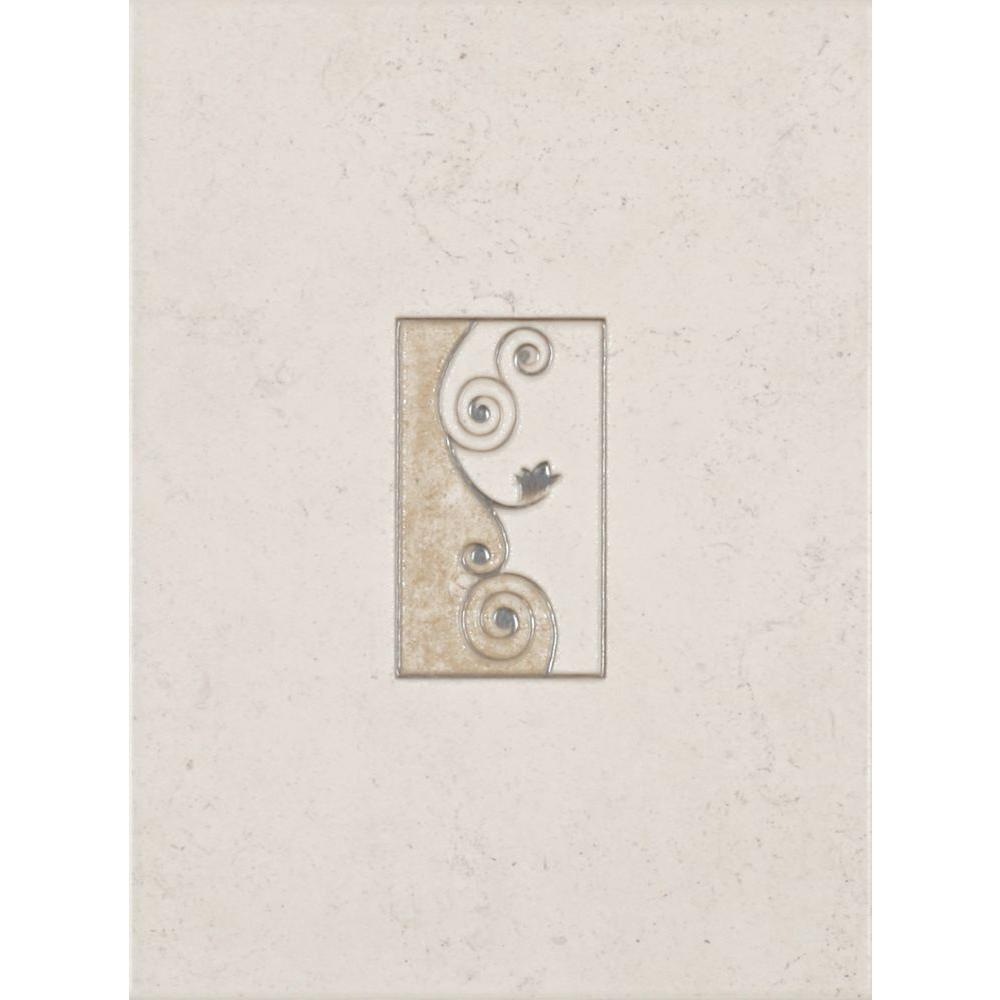 Eliane Melbourne Sand 8 In X 12 In Ceramic Insert Wall Tile