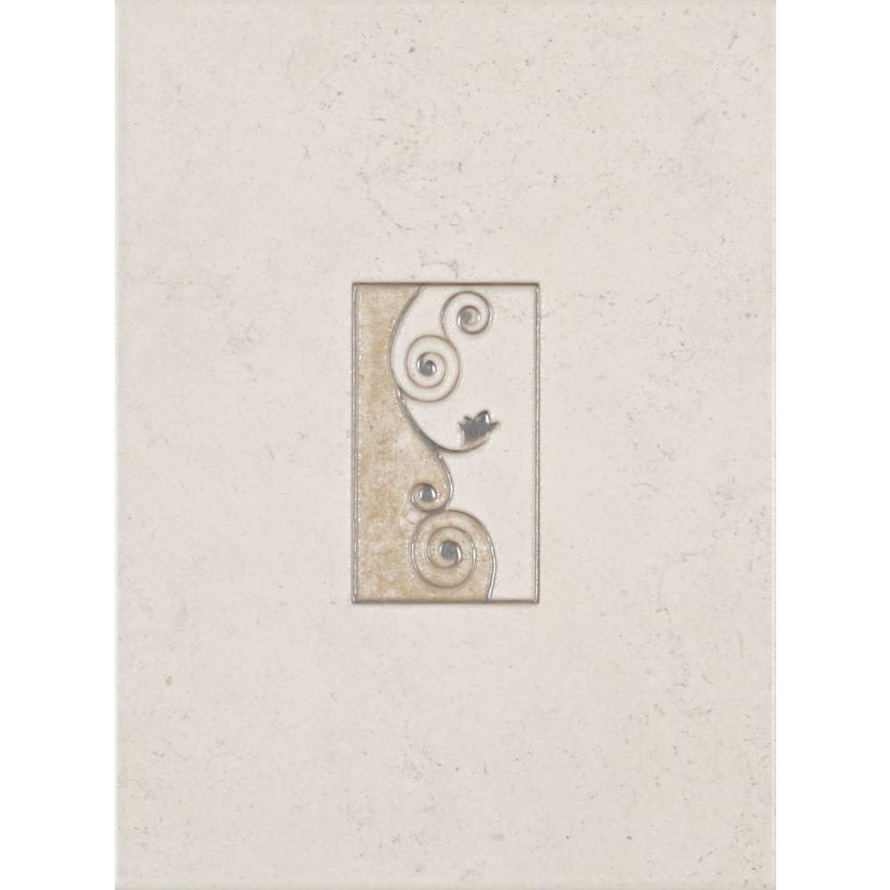 eliane melbourne sand 8 in. x 12 in. ceramic wall tile (16