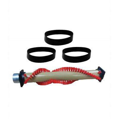 Roller Brush and 3 Belts Replacement for XL Oreck, Compatible with Part 016-1152, 75202-01 and XL010-0604