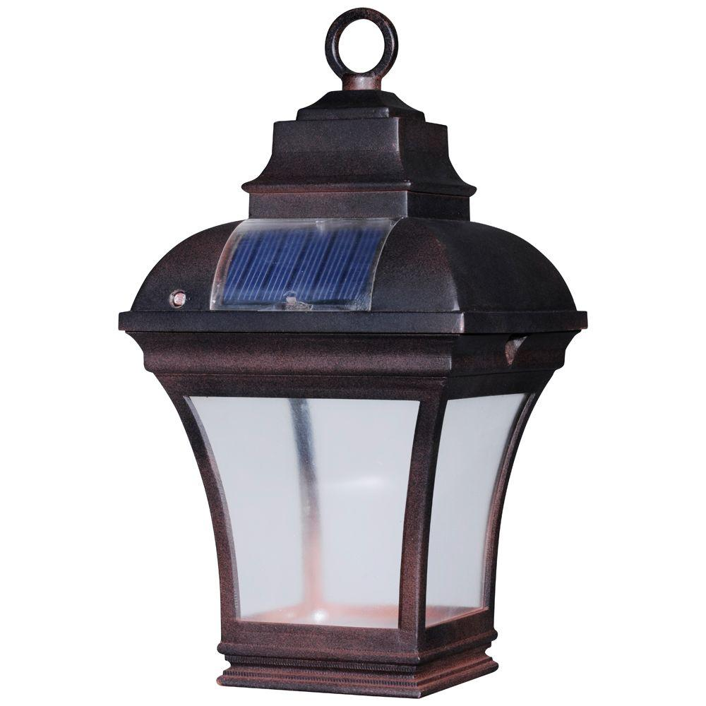 Solar Garden Light Lantern: Newport Coastal Altina Outdoor Solar LED Hanging Lantern