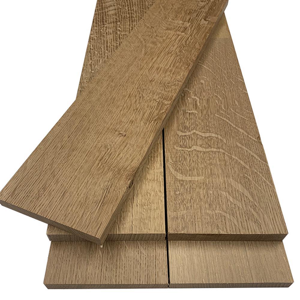 1 in. x 6 in. x 2 ft. Quarter Sawn White Oak S4S Board (5-Pack)